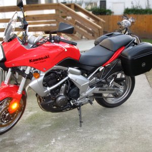 Givi E-21's on Red Versys
